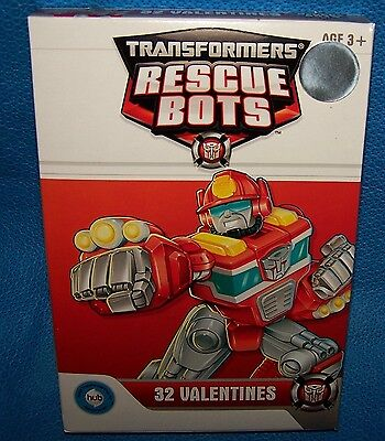 NIB Valentines Day Cards (Box of 32) Transformers Rescue Bots