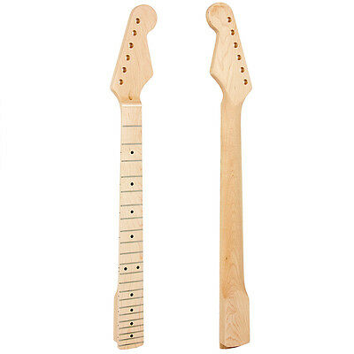 Electric Guitar Neck for ST Parts Replacement Arcuated Heel 22 Fret Maple