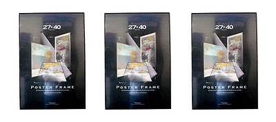 Value Pack Three 27x40 Movie Poster Frames Black Edges Assembled 27 x 40