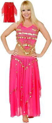 Red Belly Dancer Halloween Womens Costume M/L