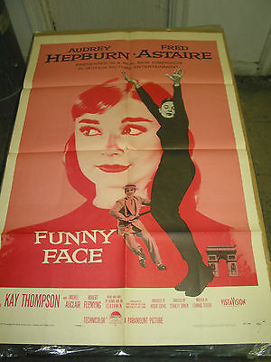 Funny Face / Orig. U.s. One-Sheet Movie Poster (Audrey Hepburn & Fred Astaire)