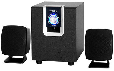Frisby Amplified 2.1 PC Computer Laptop Notebook Desktop Speakers & Sound System