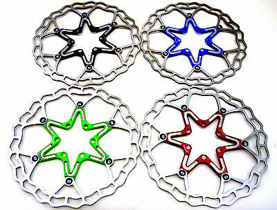 Quaxar Axim Ultralight floating disc brake rotor 160mm c69g! 5 Colours + bolts