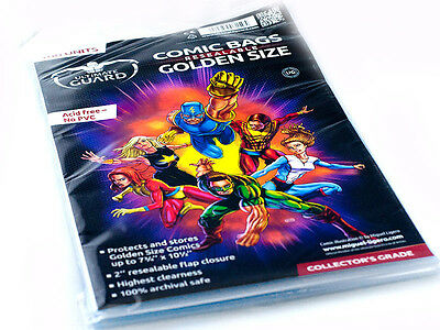 100 pochettes protection Comics Golden Size refermables neuf