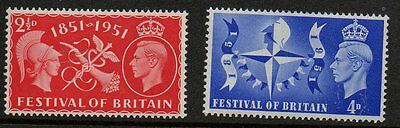 GB GVI 1951 festival of Britain SG513-514 unmounted mint set stamps