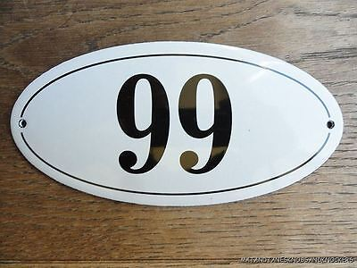 Antique Style Enamel Door Number 99 House Number Door Sign Plaque