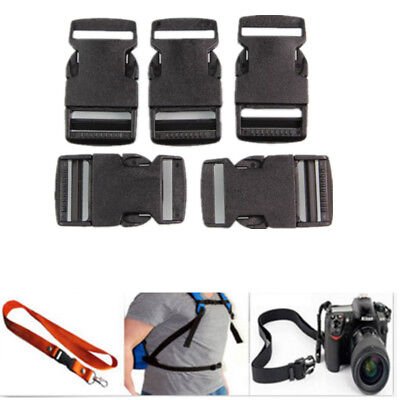 10 Pcs Plastic Black Strap Webbing 25mm Side Release Buckle 1 inch