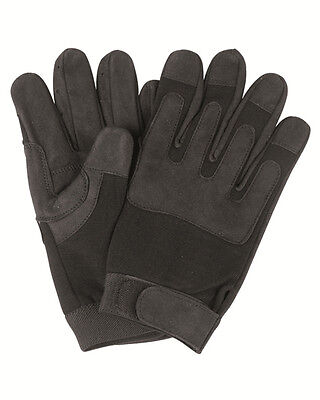 Army Gloves schwarz, Handschuhe Army, Security, SWAT            -NEU-