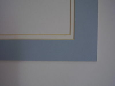 Picture Mat Double Mat 11x14 for 8x10 photo Baby Boy Blue with White Matting