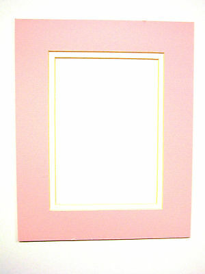 Picture Mat Double Mat 8x10 for 5x7 photo Baby Girl Pink with White Matting