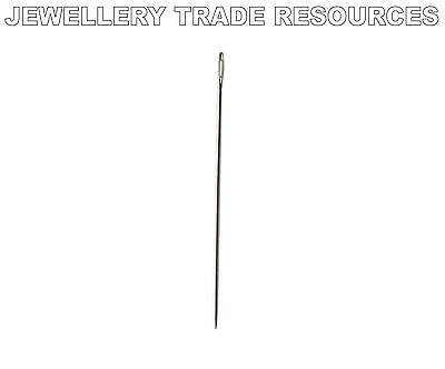 1 x Beading Needle for Stringing & Threading Beads & Pearls 0.36mm Size 12