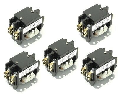 (5) Pieces YC-CN-302-1 HVAC CONTACTOR 30AMP 2POLE 24V AC Fits DP30C2P-F