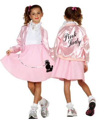 Child Pink Ladies Lady Girl Jacket 50S 50's Satin Grease Costumes Sock Hop 91151