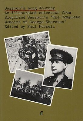 SASSOONS LONG JOURNEY, MEMOIRS of GEORGE SHERSTON Out-of-Print WW1 HISTORY BOOK