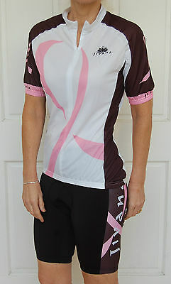 JIVANA Cycling Bike Knick Pant Jersey Kit Set Ladies womens Pink & Black XS-XXL