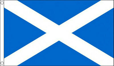 ST ANDREWS CROSS FLAG 5' x 3' DELUXE NYLON Scottish Scotland Saint Andrews Day