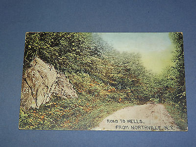 Vintage 1910 Road To Wells Northville Ny   New York   Postcard