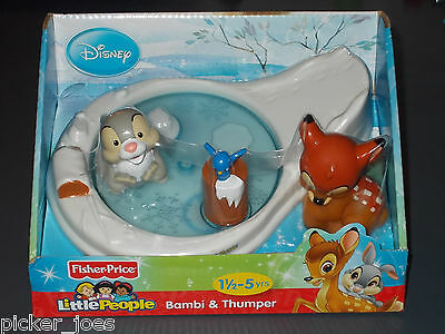 NEW 2012 Fisher-Price LITTLE PEOPLE Disney BAMBI & THUMPER Movie Playset X7831