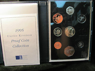 1995 UK Eight Coin Proof Set - Blue Cover