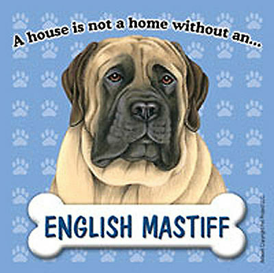 English Mastiff Magnet Sign House Is Not A Home