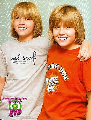 """COLE & DYLAN SPROUSE - THE SUITE LIFE - 11"""" x 8"""" MAGAZINE PINUP - POSTER"""