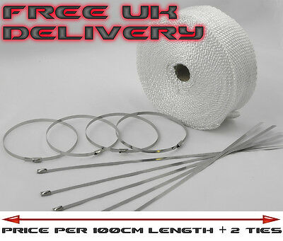 Exhaust Pipe Downpipe Manifold Heat Wrap Tape 1M Length & 2 Ties Citr L1.