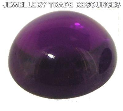 6mm Natural Amethyst Deep Purple Round Cabochon Gem Gemstone