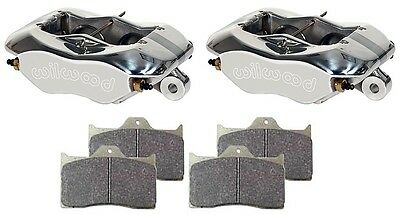 """New Wilwood Dynalite Polished Brake Calipers & Pads,For 1"""" Rotors,1.62"""" Pistons"""