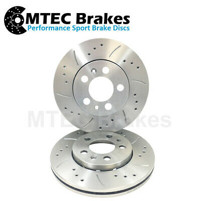 Front Brake Discs, Performance Drilled and Grooved Front Brake Discs (MTEC389)