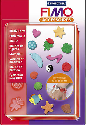 FIMO Sculpey Clay Push Moulds For Modelling Jewellery Craft Art Fun 01