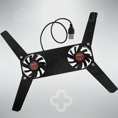 Twin Fan Mini Portable Laptop Cooling Pad Usb Powered Notebook Stand