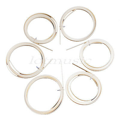 6pcs Ivory ABS Guitar Binding Purfling Body Project 10mm Widex 2mm Thick New!