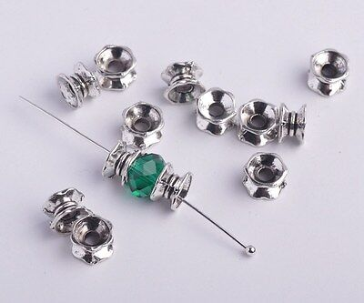 FREE SHIP 100pcs Charms Tibetan Silver Bracelet Finding Nice Spacer Bead 7mm New