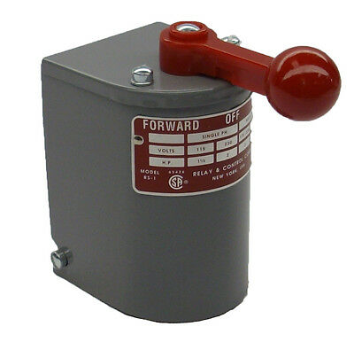 1.5 hp-2 hp Electric Motor Reversing Drum Switch Single Phase Position=Maintain