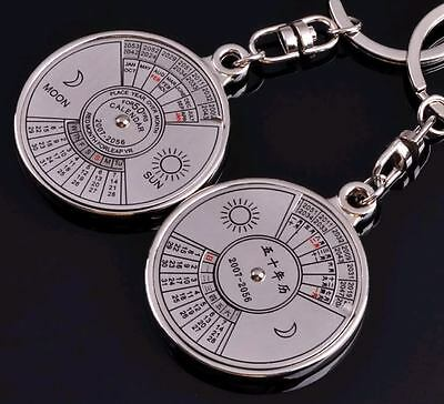 Classic 3D Stainless steel Fifty Years Calendar key chain ring pefect new