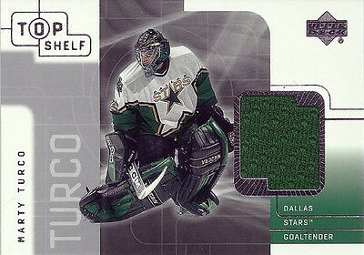 MARTY TURCO 2002 UD TOP SHELF CERTIFIED AUTOGRAPH - DALLAS STARS