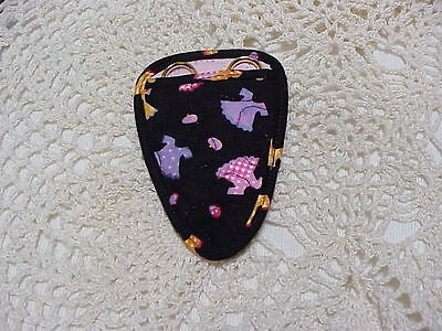 Handmade Cute Little Dresses Quilted embroidery scissor holder cotton fabric