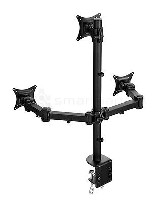 Lavolta Triple Monitor Mount Stand Adjustable Arm 3x LCD LED TV Screen Display