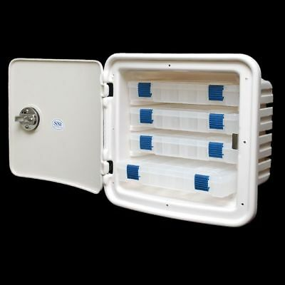 Tracker Marine 135678 Ssi Off White 12 X 11 Inch Plastic Boat Hatch Tackle Box