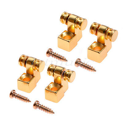 2 Pairs Guitar Parts Roller String Retainer Tree Guides Gold For Strat Parts