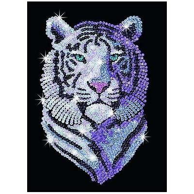 Sequin Art Snow Tiger by KSG 1217 New Design