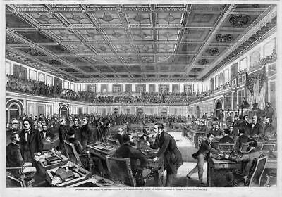 United States House Of Representatives At Washington, House In Session, History