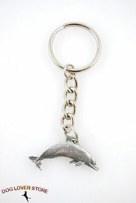 Dolphin Keychain Pewter