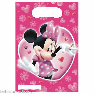 6 Disney Minnie Mouse Pink Party Loot Gift Bags