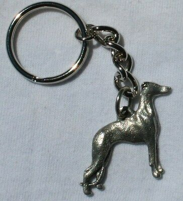 WHIPPET Dog Fine Pewter Keychain Key Ring New