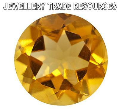 9mm ROUND NATURAL GOLDEN YELLOW CITRINE GEM GEMSTONE