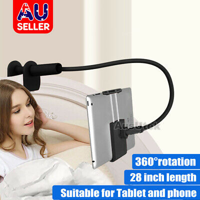 360°Rotating Tablet Stand Holder Lazy Bed Desk Mount iPad Air iPhone Samsung