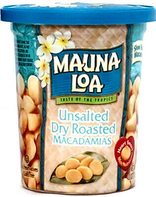 Unsalted Dry Roasted Mauna Loa Macadamia Nuts ~ 4.5 Oz Can