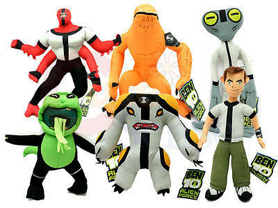 "Ben 10 Alien Force Plush Doll 14"" Figure Doll - 5 Variations"