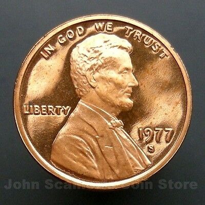 1977-S Lincoln Memorial Cent Penny - Gem Proof Deep Cameo U.S. Coin